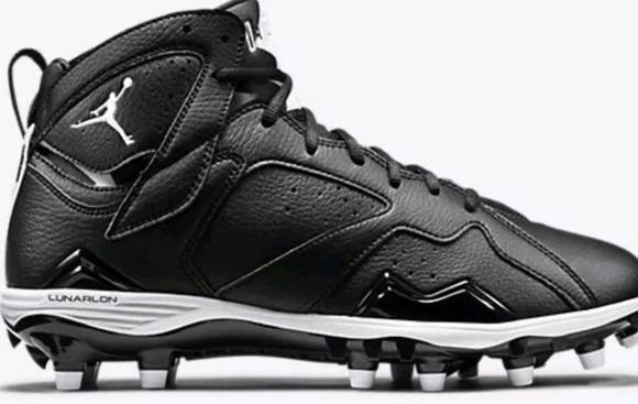 Nike Shoes Jordan Retro 7 Football Cleats Black Oreo Poshmark